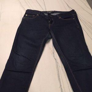 Express skinny/legging dark wash jeans